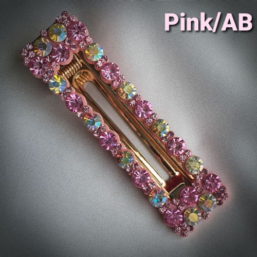 Pink/AB Rectangle Hair Clip